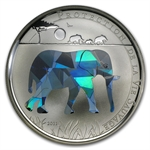 Togo 2011 Proof Silver Wildlife Protection - Elephant Prism